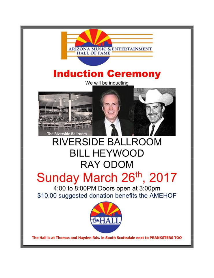 AMEHOF March 26, 2017 Induction Ceremony